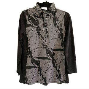 Terra SJ Apparel Long Sleeve Tunic Top Size Small